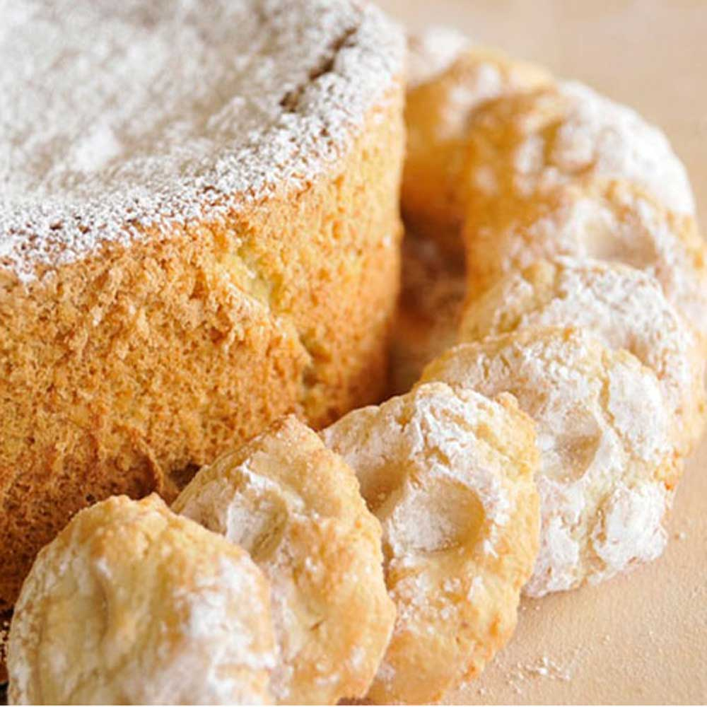 Almond Torte with Almond Cloud Cookies