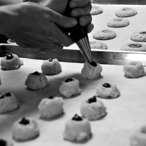 Making Jam Filled Cookies