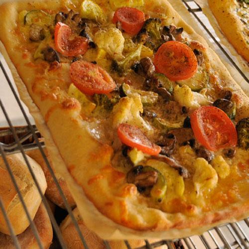 Roasted Vegetable Pizza Slices